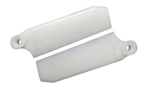 72.5mm W/ 5mm Root Pearl White Extreme Edition Tail Rotor Blades - 500 Size #4033