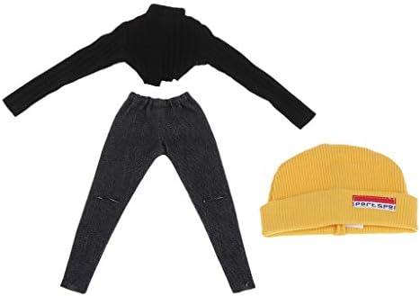 Tachiuwa 12インインブライスドール用ガーメント用の愛らしいショートセーター、破れたパンツ