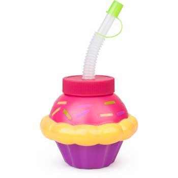 Cupcake Sipper Cup (each) - Party Supplies