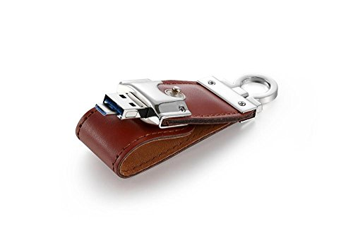USB Flash Drive Leather Set Memory Stick 8G/16G/32G/64G Phone Computer Dual-Use Micro USB U Disk , 8gb