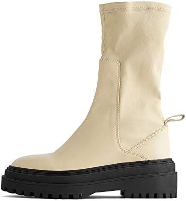 Zara Women Flat soft leather ankle