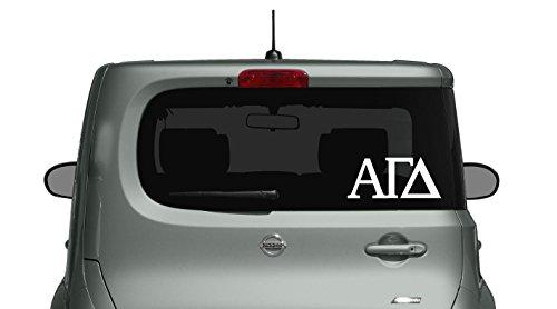 Alpha Gamma Delta - Car, Truck Laptop, Macbook Decal Sticker (3 Pack) (White)