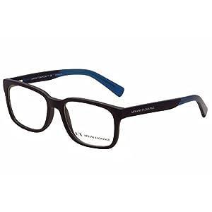 Armani Exchange AX3029 Eyeglass Frames 8183-54 - Matte Blue AX3029-8183-54