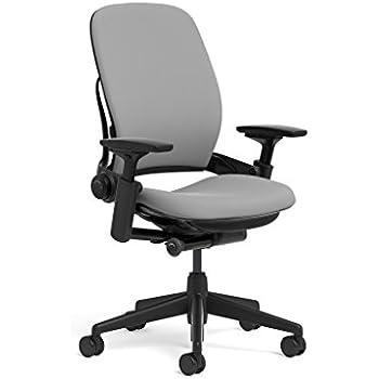 Steelcase Leap Task Chair: Black Base   4D Adjustable Arms   No Headrest    Hard