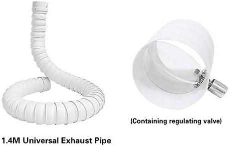 L-SHUNBAO 1pc Universal Pom Tubo de Escape 1-2m * 75 mm Extractor Extractor Brazo Campana de Humos for Industrial Inicio purificador de Humo Filtro (tamaño : 1.4M)