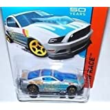 2014 Hot Wheels '13 Ford Mustang GT Silver and Blue 161/250 HW RACE Track Aces 50th Year Mustang Anniversary by Hot Wheels
