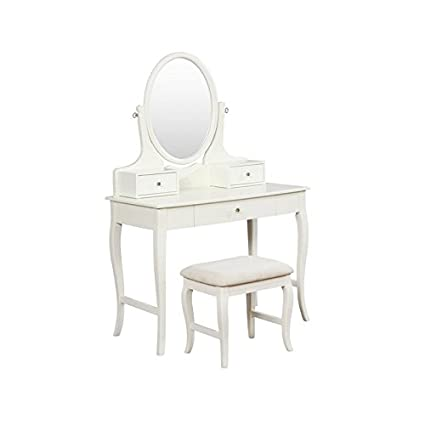 Amazon Com Riverbay Furniture Vanity Set In Ivory And Beige