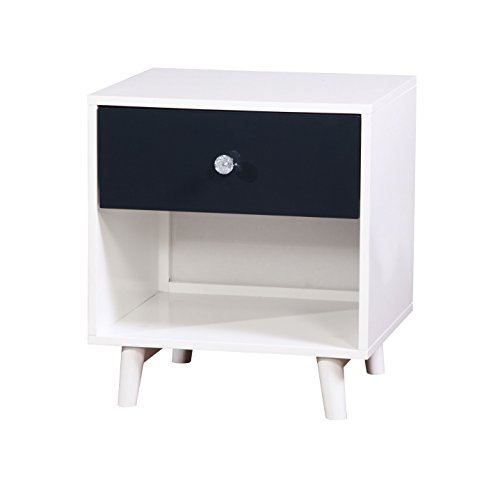 HOMES: Inside + Out ioHOMES Caprica Contemporary Youth Nightstand, Blue/White by HOMES: Inside + Out