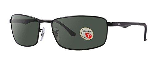 Ray Ban RB3498 Sunglasses (61mm Matte Black Frame Polarized Black - Men Ban Ray Sunglasses