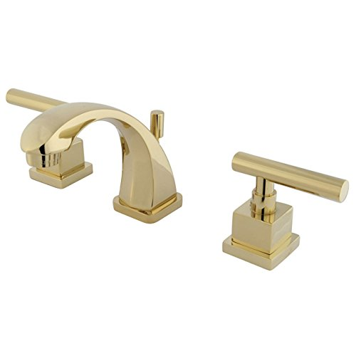 Kingston Brass KS4942CQL Claremont Mini Widespread Lavatory Faucet with Brass Pop-Up, Polished Brass