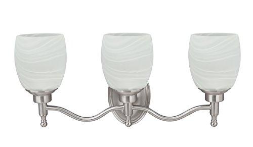 Monument Lighting 617091 Decorative 4 Light Vanity Fixture: Aspen Creative 62129 Three Metal Bathroom Vanity Wall