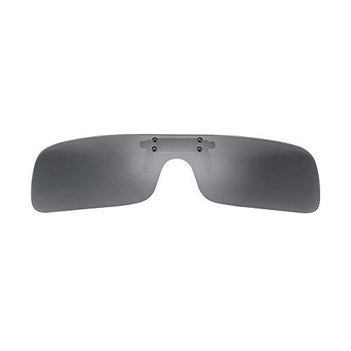 Farway Polarized Clip-on Flip Up Plastic Sunglasses Frameless Rectangle Lenses Glasses for Outdoor Activities Travel Driving Fishing - Sunglasses Erika Black