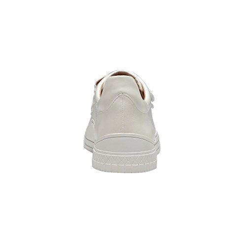 Linea Paolo Grace Kvinna Gymnastikskor - Kardborrband Retro Läder Sneaker Vitt Läder