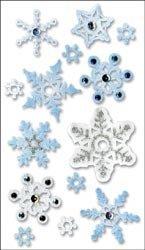 Bulk Buy: Jolee's Boutique Dimensional Vellum Sticker Snowflakes SPJV-008 (6-Pack)