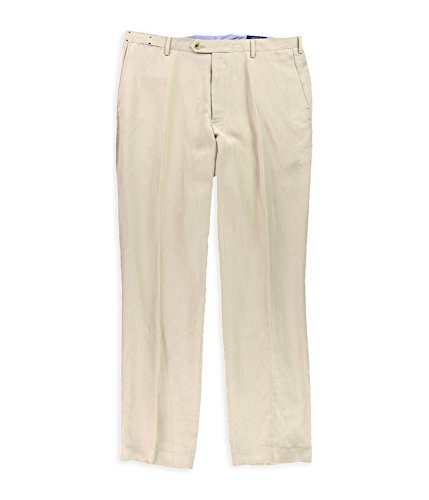 Polo Ralph Lauren Men's Blended Linen Flat Front Casual Pants Beige 40 x 30