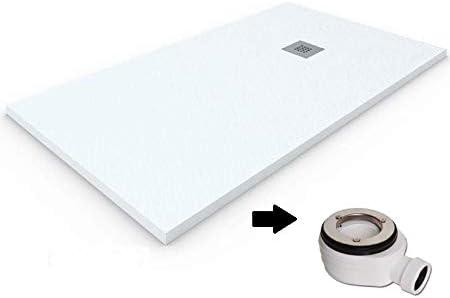 Plato de ducha de resina-antideslizante-textura pizarra-ral9227 100x100