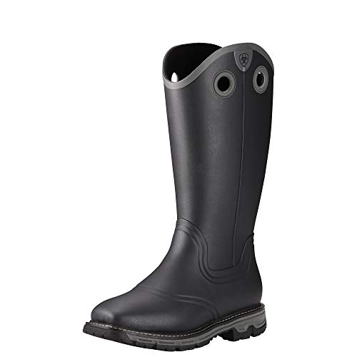 ARIAT Men's Conquest Buckaroo Waterproof Square Toe Rubber Boot Black Size 9 Ee/Wide ()