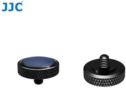 JJC New Desgin Black Blue Deluxe Camera Soft Release Button with Microfiber Leather on Surface for Fuji Fujifilm X-T20 X-T10 X-T2 X-PRO1 X100 X100S X100T X30 X20 Sony RX1R RX10 II IV Leica M10 etc