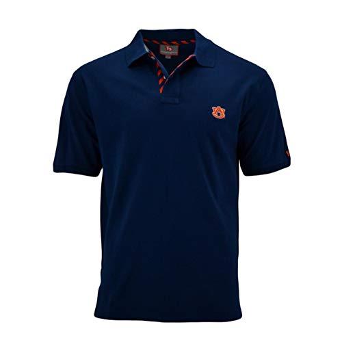 Pennington and Bailes NCAA Mens Team Stadium Polo Shirt, Embroidered (Auburn - Navy, ()