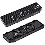 IVSO Cooling Fan for Xbox One, [with 2 Ports USB Hub] Professional Manual-sensing External Dual USB Cooler for Microsoft Xbox One Console-Black