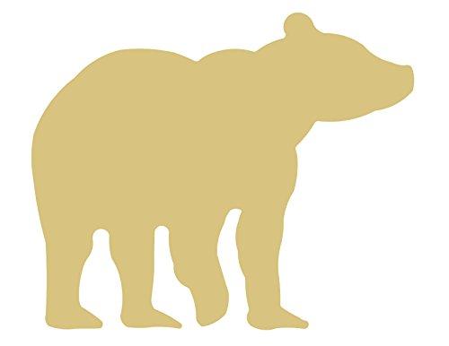 Polar Bear Wood - Bear Cutout Unfinished Wood Grizzly Polar Black Brown Ursa Animal MDF Shape Canvas Style 2