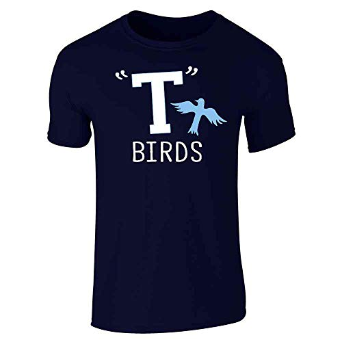 T Birds Gang Logo Costume Retro 50s 60s Costume Navy Blue XL Short Sleeve T-Shirt]()