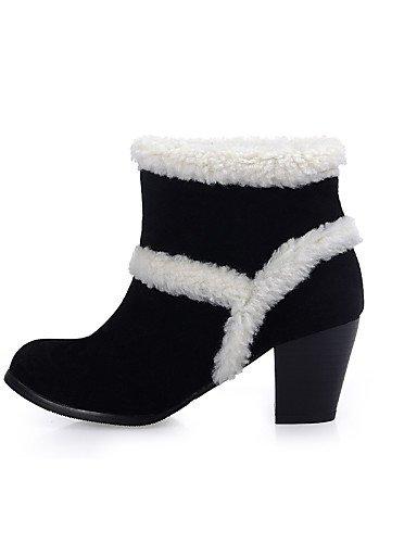 Stiefel Stiefel Rund Beute Ferse Citior Damen Fleece Beute Chunky Fashion Schuhe Casual Damen gFfwBqxP
