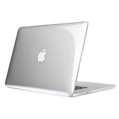 'Fintie MacBook Caso de hule, Macbook Pro 15' (Retina), Transparente (Transparent Clear)