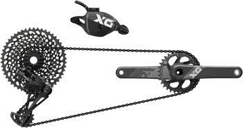 SRAM X01 Eagle DUB Groupset: 170mm Boost 32 Tooth Crank, Rear Derailleur, 10-50 12 Speed Cassette, Trigger Shifter,