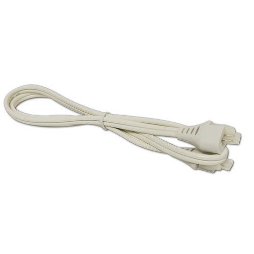 Morris Products LED Under Cabinet Light Jumper Cord - White, 30 Inches - 120 Volt, UL Listed - for Connecting Junction Box to Under Cabinet -