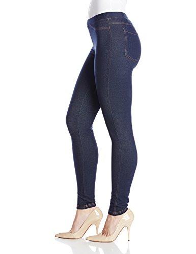 No nonsense Women's Stretch Denim Leggings, Dark Denim, Large