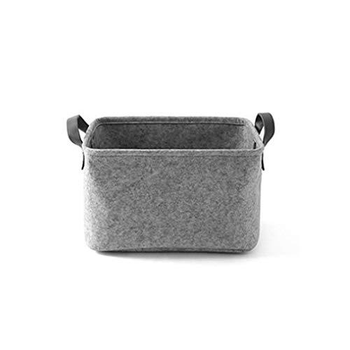 dezirZJjx Diaper Storage Bag, Baby Diaper Caddy Organizer,Portable Felt Thicken Baby Diaper Toys Clothes Storage Bag Basket Organizer,Diaper Storage Caddy Grey L ()