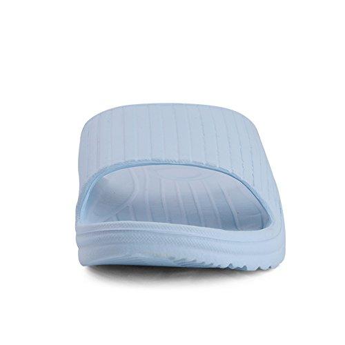 Zapatillas De Baño Equick Premium Para Mujer Y Hombres Antideslizantes Para Interiores Con Casa, Sandalia 02blue