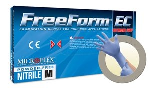 Microflex Freeform EC Powder Free Medical Grade Extended Cuff Nitrile Exam Gloves (1000 Case) by Freeform EC