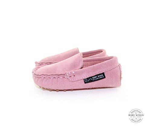 BABYWINGS ® Unisex Enfants & Bébés Suède 100% cuir Chaussures (6-12 Months: Length: 13.5cm, Rose)