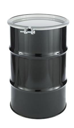 SKOLNIK Carbon Steel Open Head Drum, 30 gallons, Bolt Ring, 1.2mm Body Gauge (Pack of 1)
