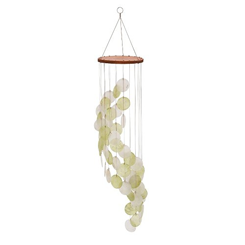 Deco 79 40378 Wood Capiz Wind Chime, 31