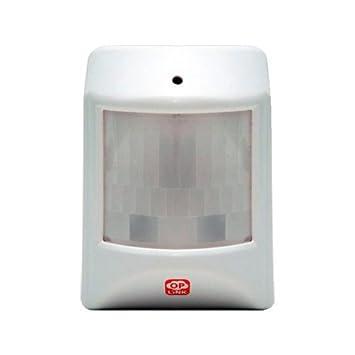Home8 - Detector volumétrico PIR - Inalámbrico - Antena interna - Rango de detección 8 m / 120º - Alimentación 1 pila 3 V CR17345 - Instalación automática: ...