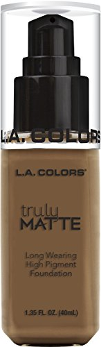 L.A. Colors Truly MATTE Long Wearing High Pigment Foundation (CLM363 Cappuccino)