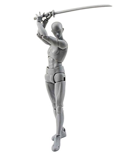 Japanese Anime Figure - Dtemple DX Set Male Female Variable PVC Figure Model SHF S H Figure Gray Color Art Anime Toys (Male)