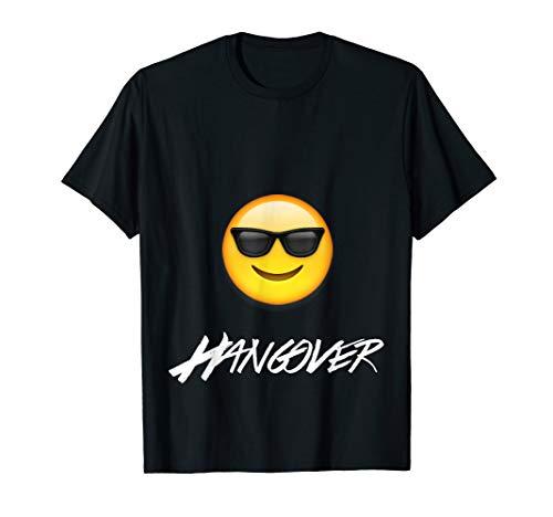 Sonnenbrille Smiley mit Hangover Brille Emoji T-Shirt (Sonnenbrille Für Brille)