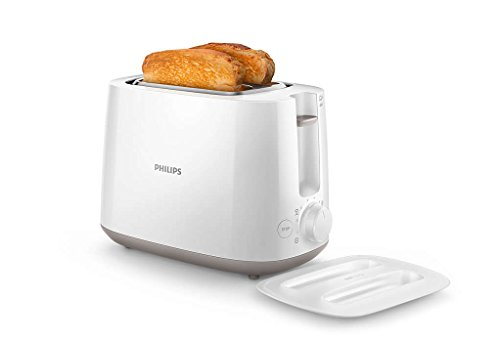 Philips Daily Collection HD2582/00 830-Watt 2-Slice Pop-up Toaster (White) 2021 August 8 browning settings for individual preference Integrated bun rack for heating rolls, pastries or buns,2 large variable slots for different size of bread For any product related queries contact: 1800 102 2929,removable crumb tray for easy cleaning
