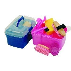 Kinder Pferde Putzbox Pony mit 6 - teiligem Inhalt rosa