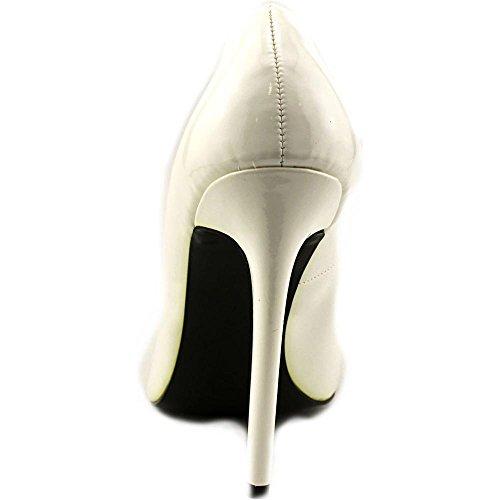 Devious SEXY-20 Damen Stiletto High Heels Lack Weiß