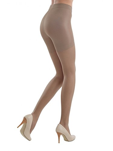 Conte Womens Nude Body Shaping Sheer Compression Pantyhose Tights - Control