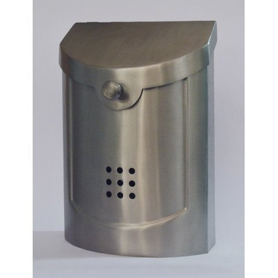 Ecco E5 Wall Mounted Mailbox Satin Nickel Plated Small by ECCO