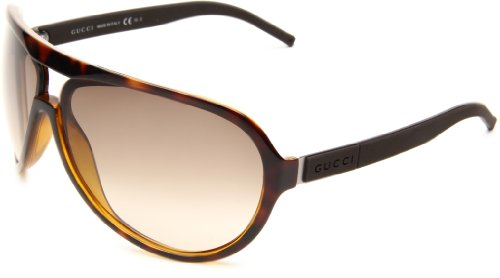Gucci Men's 1639/S Wrap Sunglasses,Chocolate,havana & Ruthenium Frame/Brown Gradient Lens,One - Sunglasses Gucci Wrap