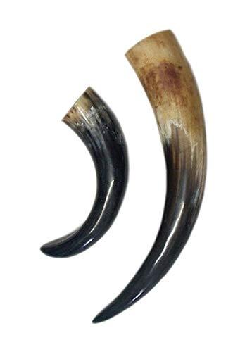 Vikingo y medieval Cuerno para aut/éntico aprox 0,4 Liter cuerno para la edad media