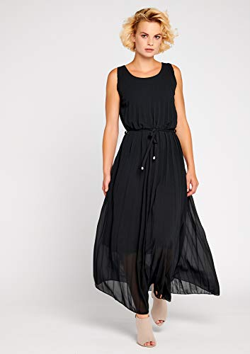 42 Dress Unicolor Pleaded LOLALIZA Sizes 38 Maxi Black P0zqRHwq