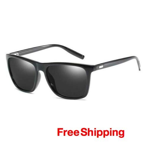 CollectionofProducts PPPT10230 Mens Polarized Classic Sunglasses Black